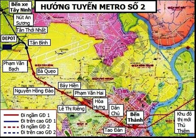 Tuyến metro số 2, giai đoạn 1 (Bến Thành - Tham Lương) sẽ triển khai chậm hơn dự kiến