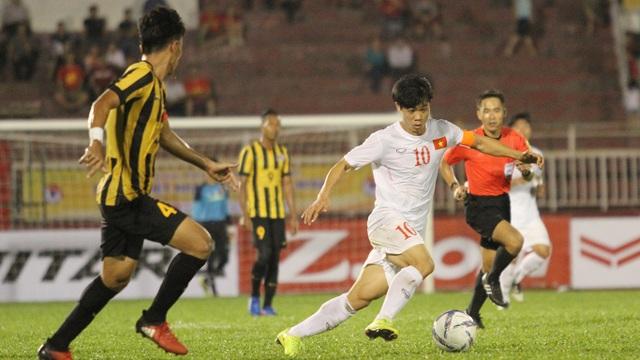 Công Phượng đã lấy lại được phong độ ở trận đấu với U23 Malaysia - Ảnh: Trọng Vũ