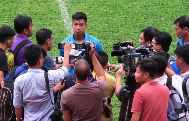 Văn Thanh nói về khả năng vô địch SEA Games 29 của U22 Việt Nam (ảnh: Anh Hải)