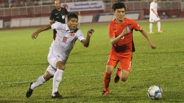 Hà Đức Chinh (18) xứng đáng được trao cơ hội dưới thời HLV Park Hang Seo (ảnh: Trọng Vũ)