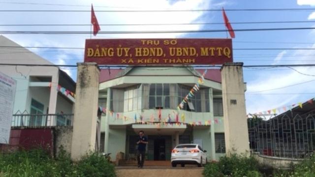 UBND xã Kiến Thành nơi ông Sáng công tác (ảnh CTV)