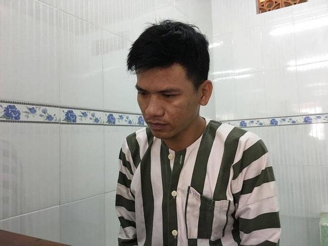 Đối tượng Nguyễn Dương Khánh tại cơ quan công an
