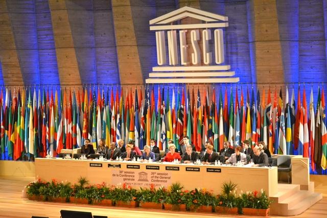 Quang cảnh một phiên họp của UNESCO (Ảnh: Tân Hoa Xã)