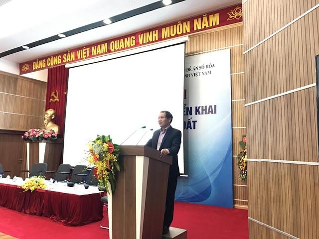 Đ/c Đoàn Quang Hoan, Cục trưởng Cục TSVTĐ, Bộ TTTT phát biểu tại hội nghị