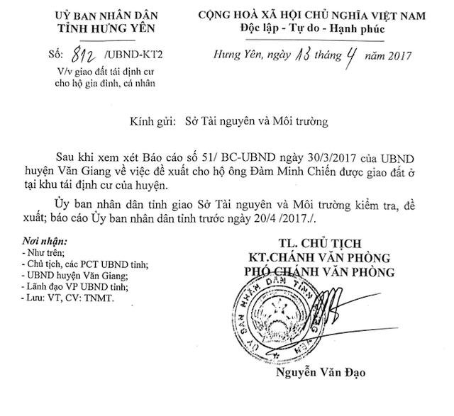 UBND tỉnh Hưng Yên chỉ đạo giải quyết vụ việc.