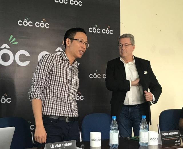 Ông Lê Văn Thanh, đồng sáng lập Cốc Cốc và Peter Kennedy - Chủ tịch Hubert Burda Media Châu Á.