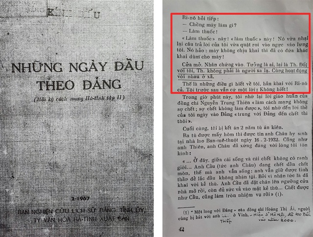 Hồi ký của bà Bùi Thị Lợi thuật lại ông Th. (ông Thao, có văn bản xác nhận) đầu thú địch, khai báo tất cả các thông tin về gia đình bà Lợi.