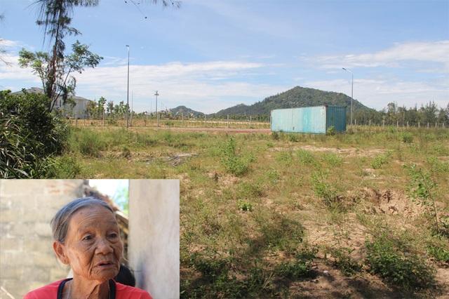 Cụ Là (ảnh nhỏ) và lô đất gần 1.300 m2 đã bán cho Trưởng phòng TN-MT huyện Lộc Hà.
