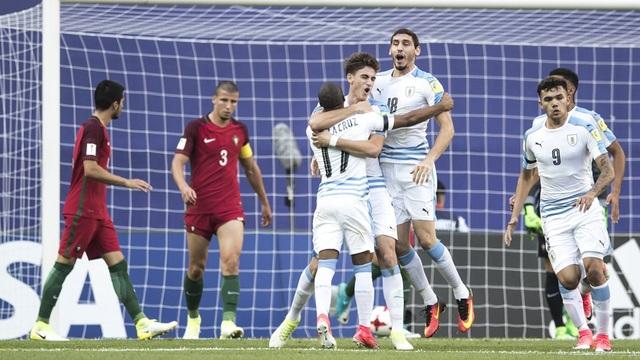 Niềm vui của các cầu thủ U20 Uruguay