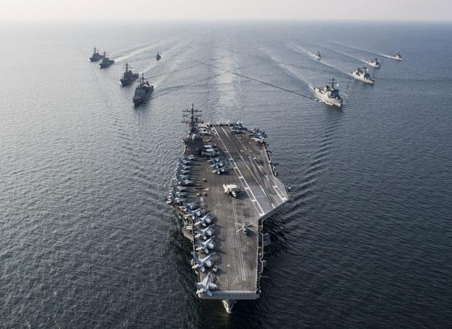 Nhóm tác chiến tàu sân bay USS Ronald Reagan (Ảnh: Hải quân Mỹ)