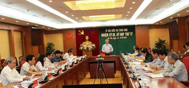 Kỳ họp thứ 17 của Uỷ ban Kiểm tra Trung ương.