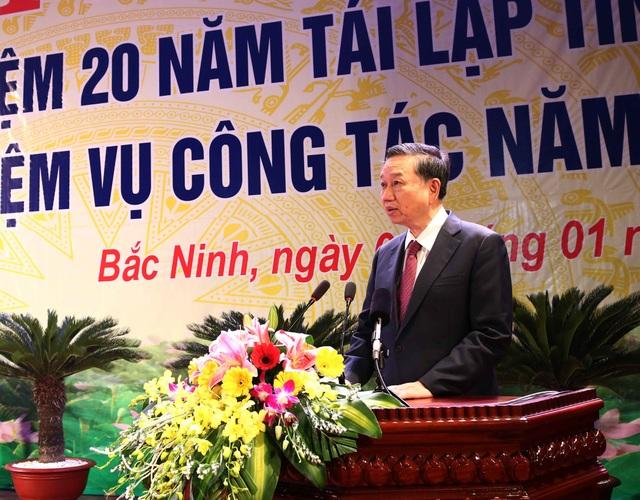 Thượng tướng Tô Lâm phát biểu tại hội nghị.
