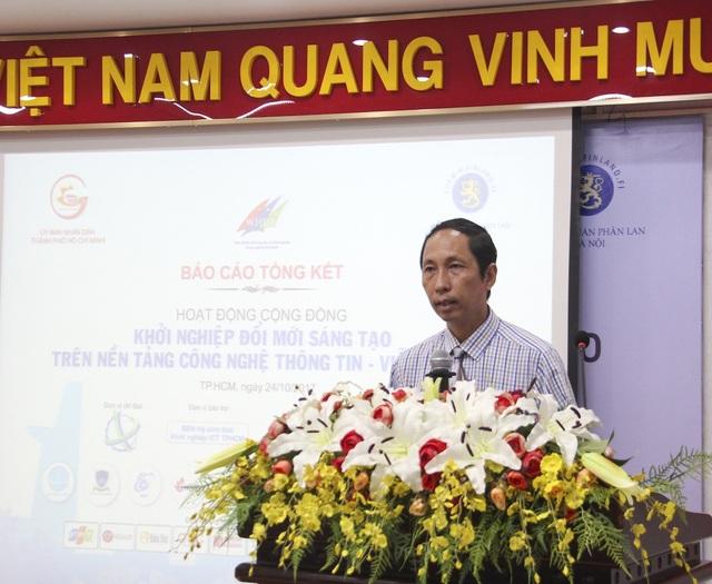 Ông Vũ Anh Tuấn, Tổng Thư ký Hội Tin học TP.HCM, Phó Chủ tịch thường trực Ban điều hành hệ sinh thái khởi nghiệp ICT TPHCM, Giám đốc Vườn Doanh nghiệp Phần mềm Quang Trung