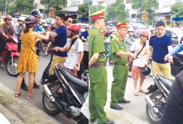 Thanh niên người nước ngoài bị đánh sau va chạm giao thông.