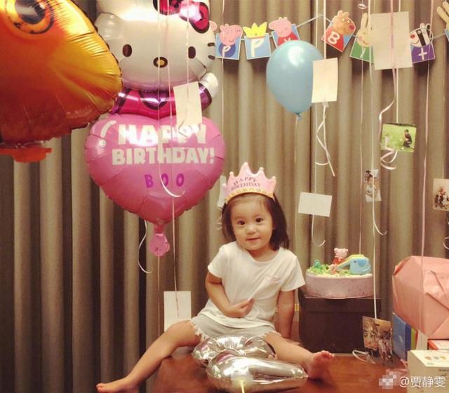 Cô bé đã có một bữa tiệc sinh nhật vui vẻ và hạnh phúc bên người thân. Ngoài hai cô con gái này, Giả Tịnh Văn còn có một cô con gái riêng với người chồng đầu tiên.