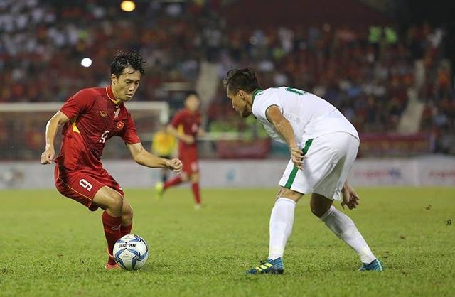U22 Việt Nam thi đấu bế tắc trước Indonesia (ảnh: Q.H)