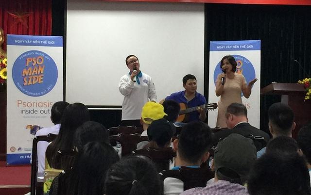 Các bệnh nhân vảy nến ngày càng tự tin với các hoạt động cộng đồng nhờ sự tích cực của Hội bệnh nhân Vảy nến (Ảnh: T.P)