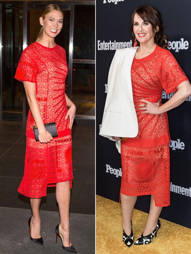 Karlie Kloss và Megan Mullally đụng hàng với váy ren Stella McCartney