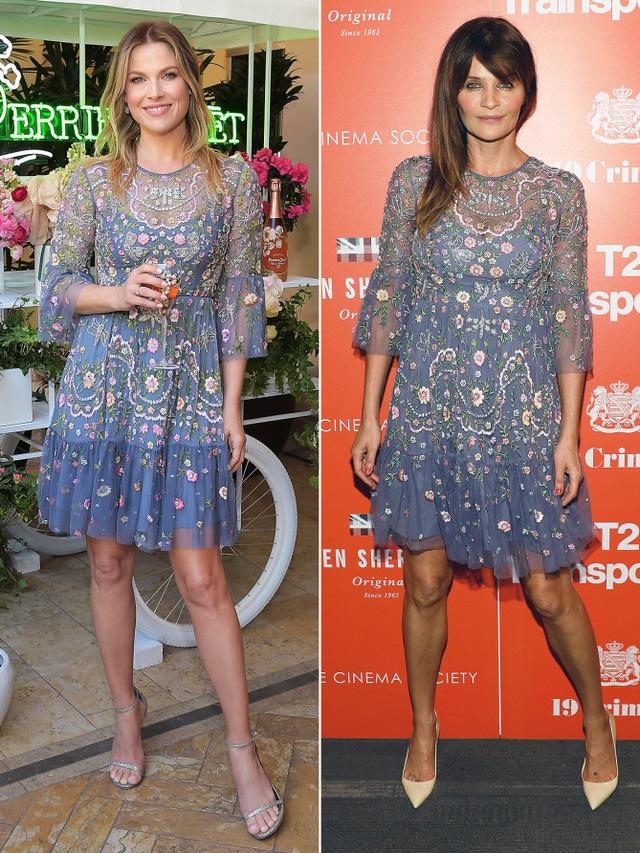 Hai người mẫu U50 Ali Larter và Helena Christensen đều trẻ hơn nhờ bộ váy thêu hoa Needle & Thread