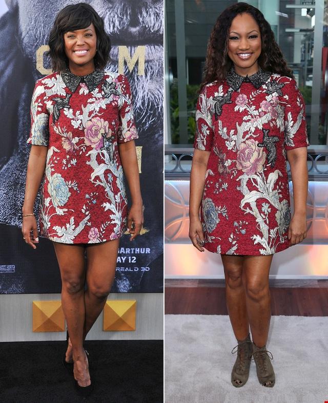 Chiếc váy xuông của Zara rất tôn dáng Aisha Tyler và Garcelle Beauvais