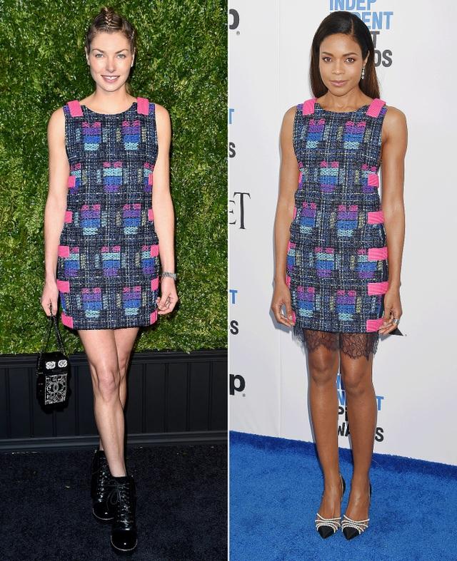 Bộ váy Chanel thanh lịch rất tôn dáng Jessica Hart và Naomi Harris