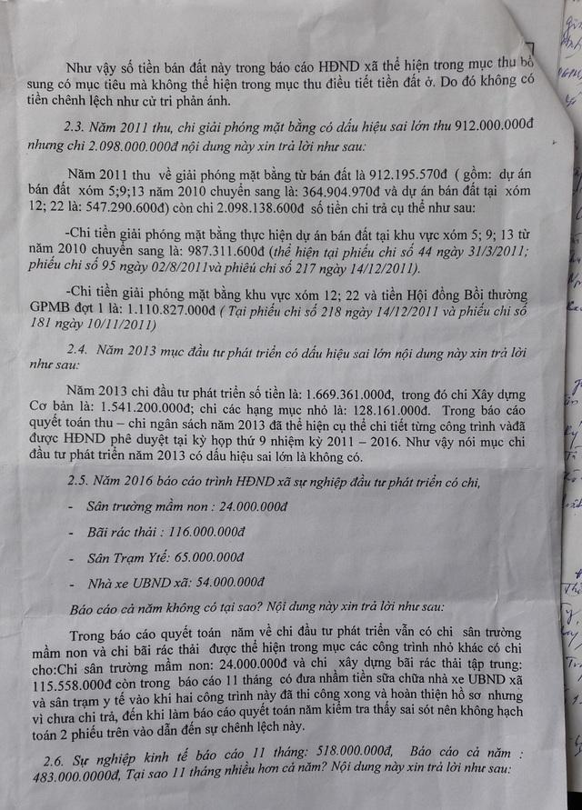 Nội dung trả lời của UBND xã Diễn Phú được người dân cho rằng là chưa thuyết phục.