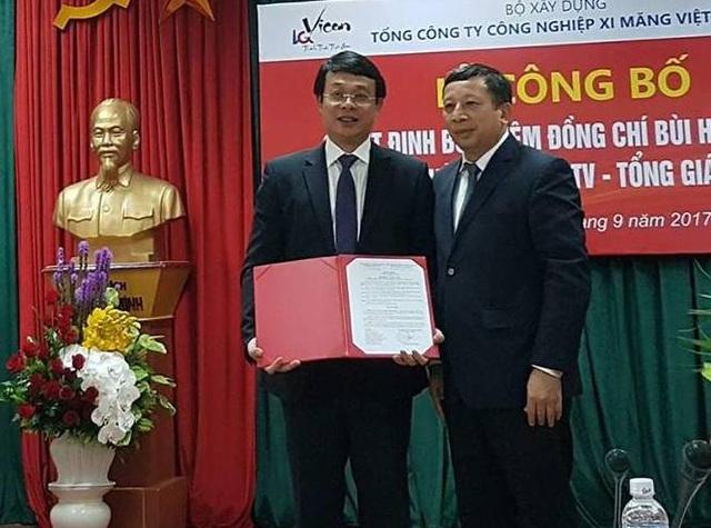 Ông Bùi Hồng Minh nhận quyết định bổ nhiệm Tổng Giám đốc Vicem.
