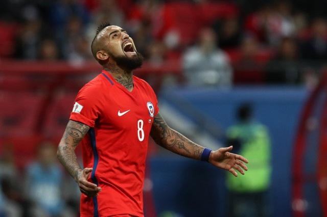 Vidal cùng đội tuyển Chile thất bại trong việc giành vé dự World Cup