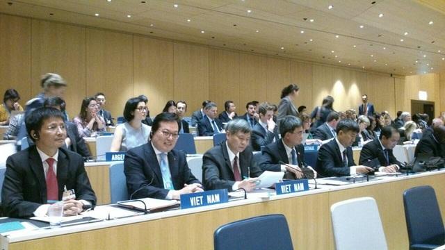 Đoàn đại biểu Việt Nam tham dự Phiên họp Đại hội đồng WIPO do Thứ trưởng Bộ Khoa học và Công nghệ Phạm Công Tạc làm trưởng đoàn.