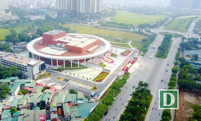 Toàn cảnh cung Hữu Nghị Việt - Trung nhìn từ trên cao.