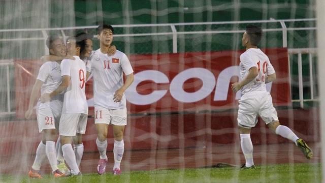 Tuấn Tài mở tỷ số từ khá sớm cho U23 Việt Nam