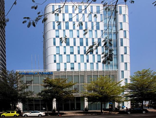 Trụ sở chính công ty cổ phần Sữa Việt Nam (Vinamilk) tại thành phố Hồ Chí Minh