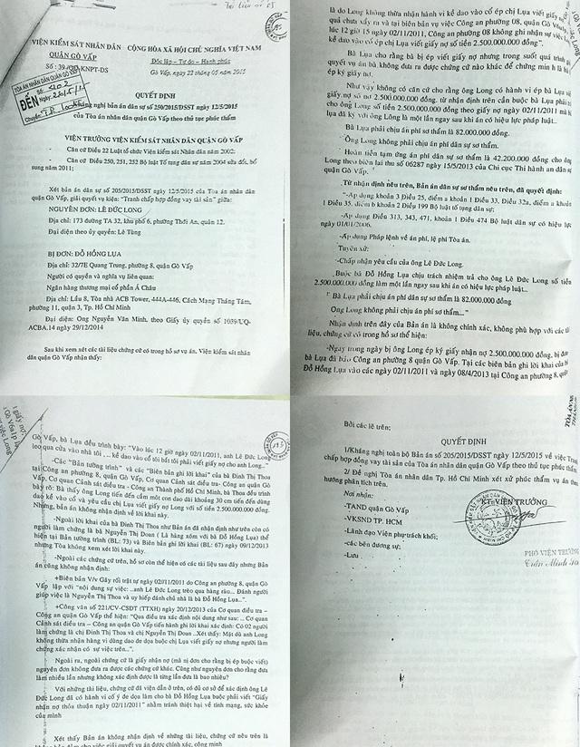 Quyết định số 39/QĐ-KNPT-DS của Viện KSND quận Gò Vấp cho rằng có nhiều tài liệu liên quan đến vụ án chưa được bản án của TAND quận Gò Vấp xem xét.