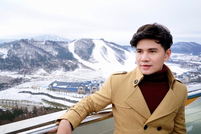Vũ Mạnh Cường cho biết, lần đầu anh được tận hưởng hết cái lạnh mùa đông của Hàn Quốc. Ở Hàn Quốc mùa này thường có tuyết rơi khi nhiệt độ xuống dưới mức 0 độ C.