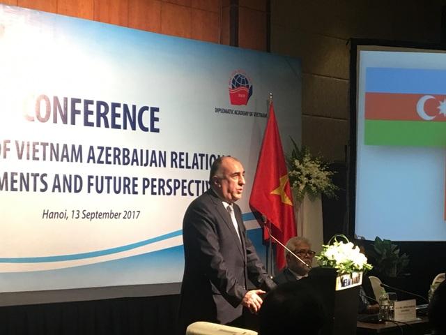 Bộ trưởng Ngoại giao Azerbaijan Elmar Mammadyarov (Ảnh: Đức Hoàng)
