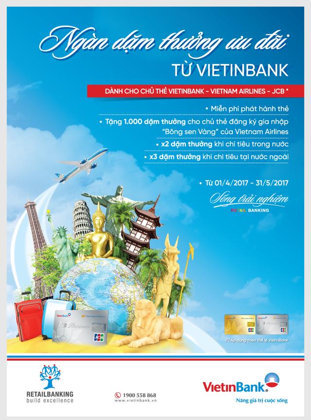 """""""Ngàn dặm thưởng cùng thẻ VietinBank"""" - 1"""