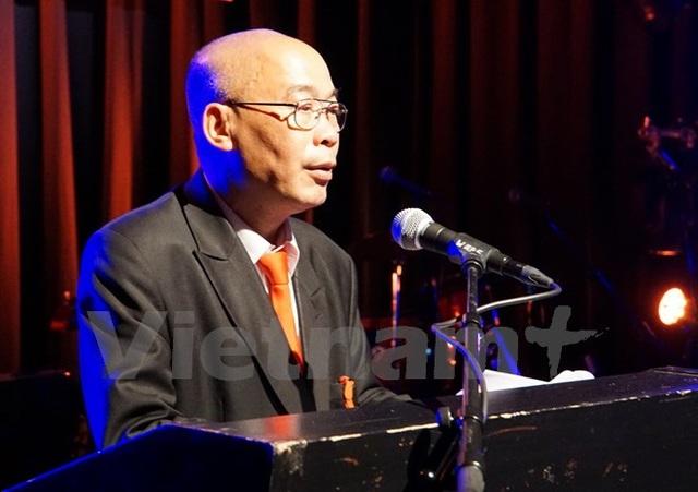 Ông Đào Minh Quang phát biểu tại buổi lễ ra mắt Quỹ. (Ảnh: Phạm Văn Thắng/Vietnam+)