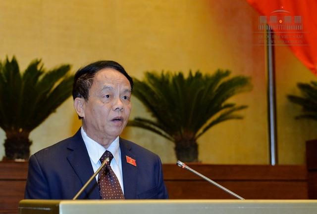 Chủ nhiệm UB Quốc phòng - An ninh Võ Trọng Việt là đại diện cơ quan thẩm tra dự án luật..