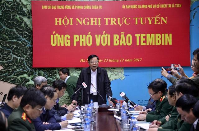 Sáng nay (23/12), Bộ trưởng Bộ NN&PTNT đã chủ trì Hội nghị trực tuyến ứng phó với bão Tembin.