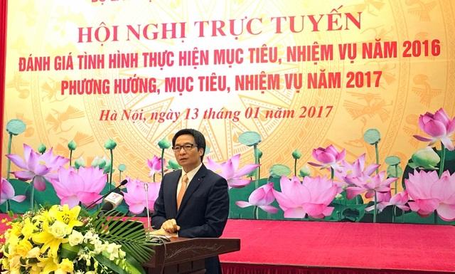 Phó Thủ tướng Vũ Đức Đam phát biểu tại Hội nghị