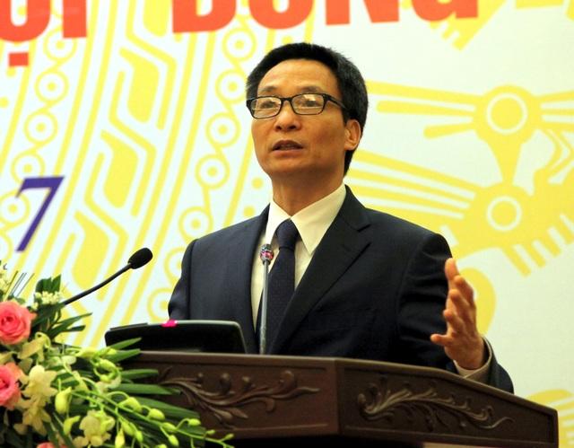 Phó Thủ tướng Vũ Đức Đam phát biểu tại Hội nghị.