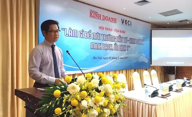 Ông Vũ Tiến Lộc, Chủ tịch VCCI phát biểu tại hội thảo - tọa đàm (ảnh: BD)