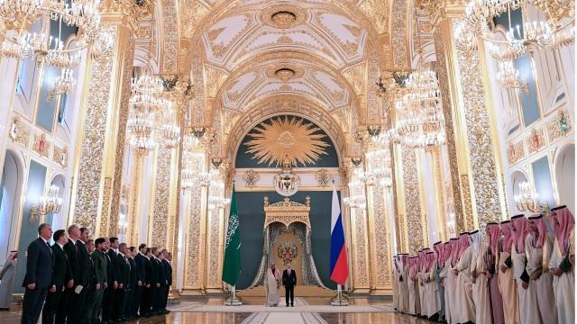 Vua Salman diện kiến Tổng thống Nga Putin tại điện Kremlin
