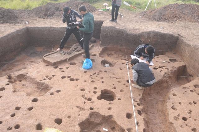 Di chỉ khảo cổ học Vườn Chuối, xã Kim Chung, huyện Hoài Đức, Hà Nội. Ảnh: PGS TS Nguyễn Văn Huy.