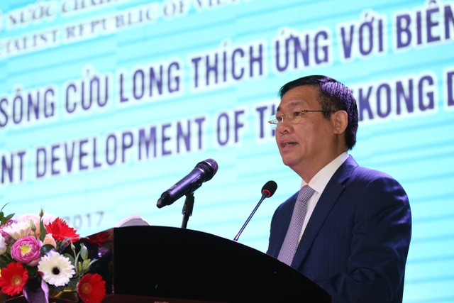 Phó Thủ tướng Vương Đình Huệ tại Hội nghị về phát triển bền vững vùng ĐBSCL thích ứng với biến đổi khí hậu diễn ra tại TP Cần Thơ, ngày 26/9