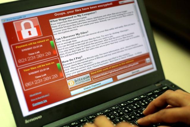 Nguy cơ bị tống tiền vì lây nhiễm mã độc WannaCry.