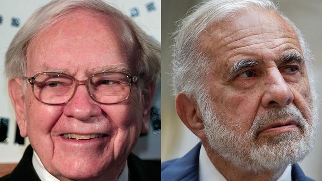 Tỷ phú Warren Buffett (bên trái) và tỷ phú Carl Icahn. (Nguồn: MarketWatch)