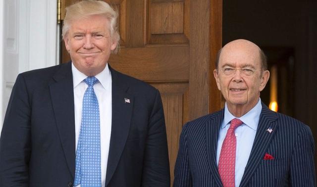 Tổng thống Mỹ Donald Trump và Bộ trưởng Thương mại Mỹ Wilbur Ross (Ảnh: Abcnews)