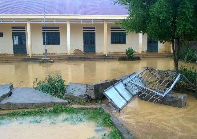 Ngành giáo dục huyện Thường Xuân cũng bị ảnh hưởng nặng nề trong trận lũ vừa qua