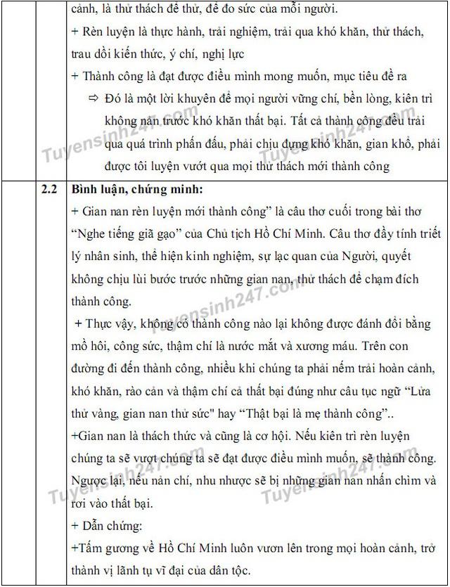 Gợi ý giải đề thi môn Văn vào khối 10 chuyên ĐH Sư phạm Hà Nội - 3